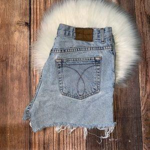 CK Calvin Klein cut off vintage jean shorts 10